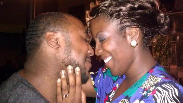 Pic taken the night of their engagement.