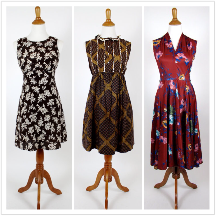A few of our favorite dresses that are currently on sale in the Etsy shop.
