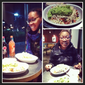 The last chipotle supper before the spending fast, December 31, 2012.