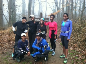 Trail run, January 2013