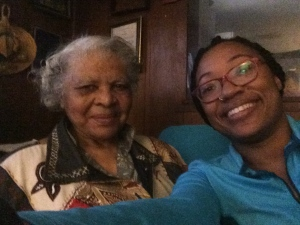 Aunt Bernice and me.